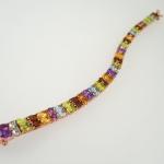 กำไลพลอยแฟนซี (Fancy Gemstones Silver Bracelet)