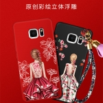 เคส Samsung S6 Edge Plus พลาสติกลายผู้หญิงแสนสวย พร้อมที่คล้องมือ สวยมากๆ ราคาถูก (ไม่รวมแหวน)