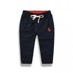 กางเกงขายาวสีกรมท่าปักลายมังกรที่กระเป๋า [size 2y-3y-4y-5y-6y-7y]