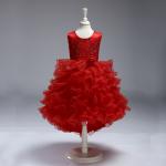 ชุดกระโปรง สีแดง แพ็ค 6 ชุด ไซส์ 90-100-110-120-130-140 (เลือกไซส์ได้)