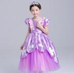 ชุดเจ้าหญิง สีม่วง แพ็ค 5ชุด ไซส์ 110-120-130-140-150 (เลือกไซส์ได้)