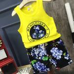 เสื้อ+กางเกง สีเหลือง แพ็ค 5 ชุด ไซส์ 7-9-11-13-15