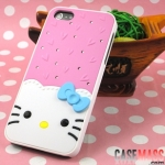 case iphone 5 เคสไอโฟน5 เคสคิตตี้ติดโบว์สีหวานๆ สวยๆ น่ารักๆ iPhone5 protection shell drill shell Hello Kitty