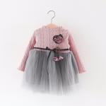 ชุดกระโปรง สีชมพูสีเทา แพ็ค 4 ชุด ไซส์ 70-80-90-100