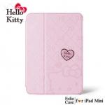 Case iPad mini เคสไอแพดมินิ ลายคิตตี้ Hello Kitty ลายปั้มลึก และมีรูปหัวใจ hello kitty น่ารักๆ พับตั้งได้