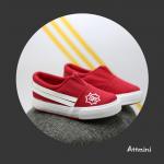 รองเท้าผ้าใบเด็ก สีแดง แพ็ค 6 คู่ ไซส์ 25-26-27-28-29-30
