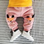 กางเกง สีชมพู (ด้านในมีขนอ่อนๆ) แพ็ค 6 ชุด ไซส์ 66-73-80-80-90-90