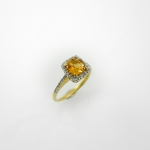 แหวนซิทรีน (Citrine Silver Ring with White Topaz)