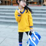 เสื้อกันหนาว สีเหลือง แพ็ค 5 ชุด ไซส์ 120-130-140-150-160 (เลือกไซส์ได้)