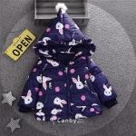 เสื้อกันหนาวลายกระต่ายสีกรมท่า [size 2y-3y]