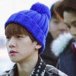 หมวกใหมพรม EXO (สีน้ำเงิน)