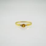 แหวนซิทรีนประดับเพชร