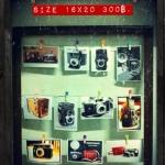 """โครงกรอบรูป พร้อมรูปกล้องโบราณ ขนาด 4x6"""" 11รูป"""