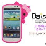 เคส S3 Case Samsung Galaxy S3 เคสซิลิโคน 3D คิตตี้แอบมองอยู่ข้างหลัง สีหวานๆ น่ารักมากๆ Hello Kitty Sanrio 3D silicone case