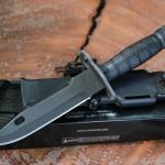 ONTARIO US MILITARY M9 BAYONET COMBAT KNIFE BLACK USA