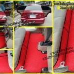 ขายพรมปูพื้นรถยนต์ราคาถูก Honda Civic Dimension ไวนิลสีแดงขอบดำ
