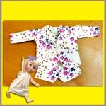 ชุดเซ็ตเสื้อสูท กางเกงขาสั้น ผ้าฝ้ายสเปนเดคเนื้อนิ่ม ลายดอกไม้ สวยน่ารักมากคะ Disney Animators' Collection Doll - 16'' (พร้อมส่ง)