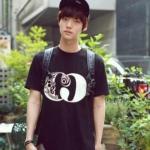 เสื้อยืดแฟชั่น Ahn Jae Hyun สีดำ