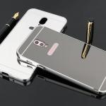เคส Samsung J7+ (J7 Plus) แบบประกอบ 2 ชิ้น ขอบเคสโลหะ Bumper + พร้อมแผ่นฝาหลังเงางามสวยจับตา ราคาถูก