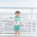 เสื้อ สีเขียว แพ็ค 5 ชุด ไซส์ 80-90-100-110-120