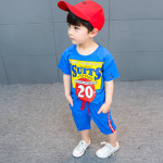 เสื้อ+กางเกง สีน้ำเงิน แพ็ค 5 ชุด ไซส์ 100-110-120-130-140