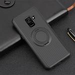 เคส Samsung A8+ 2018 (A8 Plus 2018) ซิลิโคน soft case สีดำสุดเท่ มีแหวนในตัวสวยงามมาก ราคาถูก