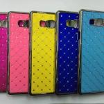 เคส Samsung Galaxy A7 พลาสติกเคลือบโลหะเมทัลลิคประดับคริสตัลสวยงาม ราคาถูก
