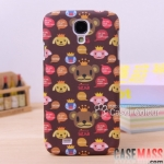 เคส S4 Case Samsung Galaxy S4 i9500 เคส Wingcle Bear หมีน้อยน่ารักๆ มาแรงยอดนิยม New South Korean cartoon Crown Winnie Samsung s4 mobile phone sets i9500 protective sleeve scrub phone shell