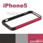 case iphone 5 เคสไอโฟน5 Walnutt ขอบเคส Bumper ซิลิโคนนิ่มๆ สีทูโทนหวานๆ สวยๆ Korea border-color thermal soft protective