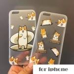 เคส iPhone 6s Plus / 6 Plus (5.5 นิ้ว) พลาสติกโปร่งใสสกรีนลายน้องหมาสุดน่ารัก ราคาถูก