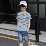 เสื้อ+กางเกง สีฟ้า แพ็ค 5 ชุด ไซส์ 130-140-150-160-170 (เลือกไซส์ได้)