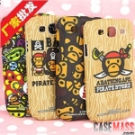เคส S3 Case Samsung Galaxy S3 III i9300 เคสลายยอดนิยม A Bathing Ape cartoon couple ultra-thin protective shell
