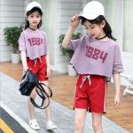 เสื้อ+กางเกง สีม่วง เเพ็ค 6 ชุด ไซส์ 110-120-130-140-150-160