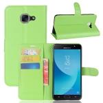เคส Samsung J7 Max แบบฝาพับด้านข้างหนังเทียมสีพื้นคลาสสิค ด้านในสามารถใส่บัตรได้ควรมีไว้สักอัน ราคาถูก