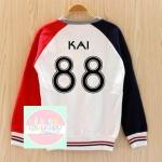 เสื้อแฟชั่น เสื้อกันหนาว EXO KAI 88 (สีขาว แดง)