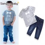เสื้อ+กางเกง สีเทา แพ็ค 5ชุด ไซส์ 80-90-100-110-120 (เลือกไซส์ได้)