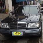 ผ้ายางปูพื้นรถยนต์ C240 W202 กระดุมสีดำขอบดำ