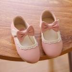 รองเท้าคัทชูแต่งโบว์สีชมพู