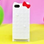 เคส iphone 5 / 5s เคสคิตตี้ฝาพับ บน-ล่าง เปิดออกมามีกระจกเงาอยู่ด้านใน น่ารักๆ แนวๆ Mirror Mirror hello kitty flip