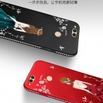 เคส Huawei Honor 7X ซิลิโคนลายผู้หญิงแสน สวยมากๆ ราคาถูก (สีของสายคล้องแล้วแต่ร้านจีนแถมมา)