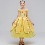 ชุดกระโปรง สีเหลือง แพ็ค 6 ชุด ไซส์ 100-110-120-130-140-150 (เลือกไซส์ได้)