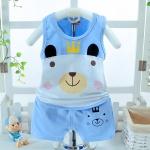 ชุดเซตเสื้อกล้ามลายน้องหมีสีฟ้า [size 6m-1y-2y-3y]