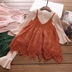 เสื้อ+เอี๊ยมกางเกง สีน้ำตาล แพ็ค 5 ชุด ไซส์ 100-110-120-130-140
