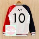 เสื้อแฟชั่น เสื้อกันหนาว EXO LAY 10 (สีขาว แดง)