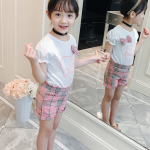 เสื้อ+กางเกง สีชมพู แพ็ค 4 ชุด ไซส์ 130-140-150-160 (เลือกไซส์ได้)