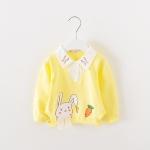 เสื้อแขนยาวลายกระต่ายสีเหลือง [size 6m-1y-2y-3y]