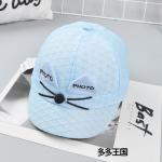 หมวก สีฟ้า แพ็ค 5ใบ ไซส์รอบศรีษะ 52cm