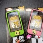 case iphone 4s 4 เคสซิลิโคนนิ่มๆ เปลี่ยนปุ่ม HOME ได้ มีปุ่มโฮมให้เปลี่ยนด้วย Paul frank, Hello Kitty, โดเรมอน, My melody, Angry Bird, PooH, Rilakkuma, Stitch