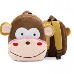 กระเป๋าลายลิงสีน้ำตาล