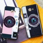 เคส Samsung C9 Pro ซิลิโคนรูปกล้องถ่ายรูปน่ารัก ตรงเลนส์สามารถยืดออกมาตั้งได้ พร้อมสายคล้อง ราคาถูก